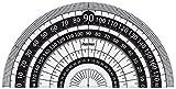 レイメイ藤井 分度器 見やすい白黒 分度器 黒 9cm APJ151B