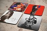 16種類!人気レア!《ジャネット・ジャクソン/Janet Jackson》オリジナル・アルバム ジャケット デザイン コルク製 コースター 4個セット (5-8) [並行輸入品]