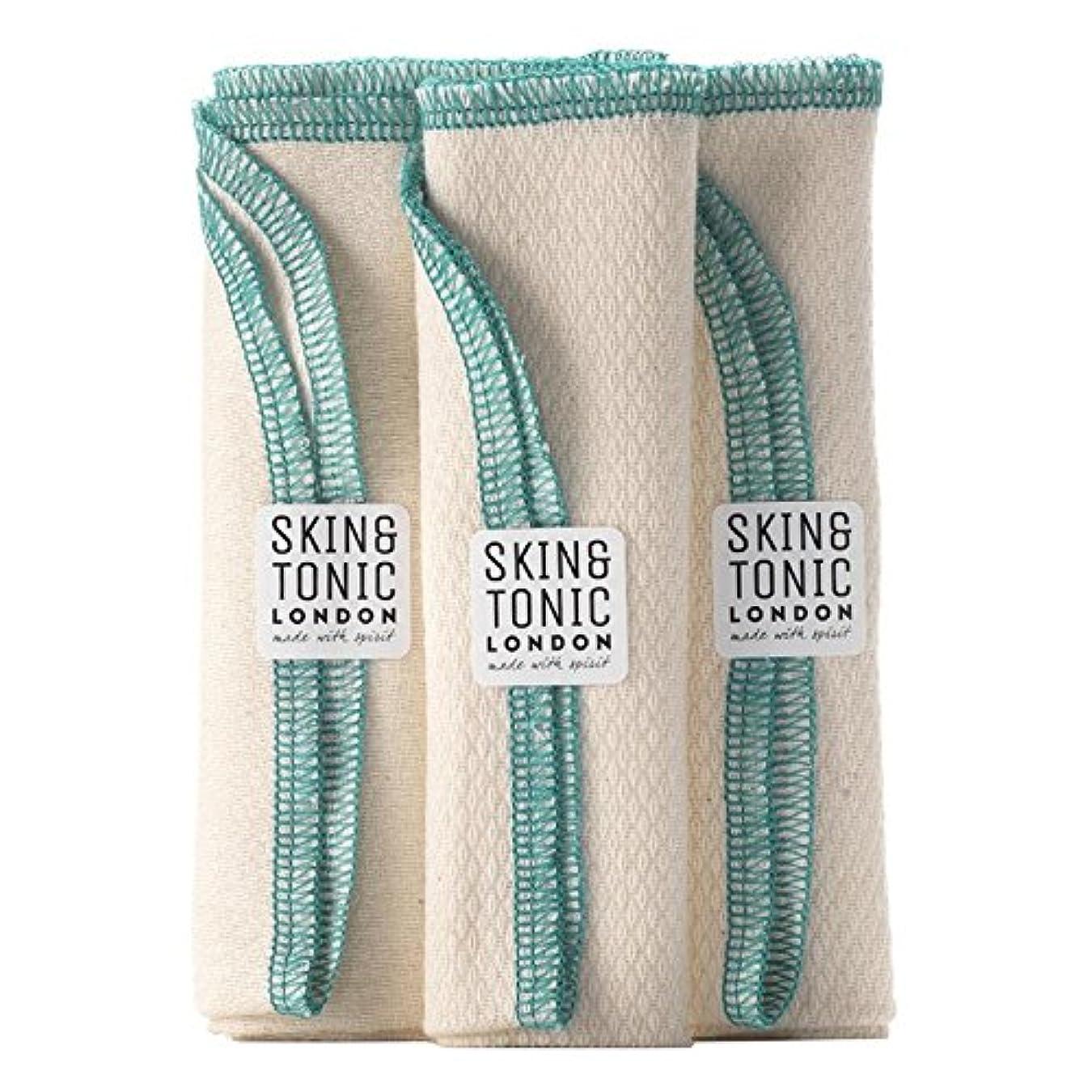取り囲む雄弁なリールスキン&トニックロンドンオーガニックコットン生地 x4 - Skin & Tonic London Organic Cotton Cloth (Pack of 4) [並行輸入品]