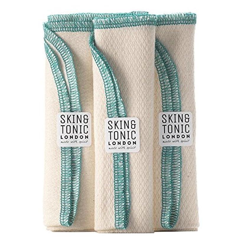 誇張放映性的スキン&トニックロンドンオーガニックコットン生地 x4 - Skin & Tonic London Organic Cotton Cloth (Pack of 4) [並行輸入品]