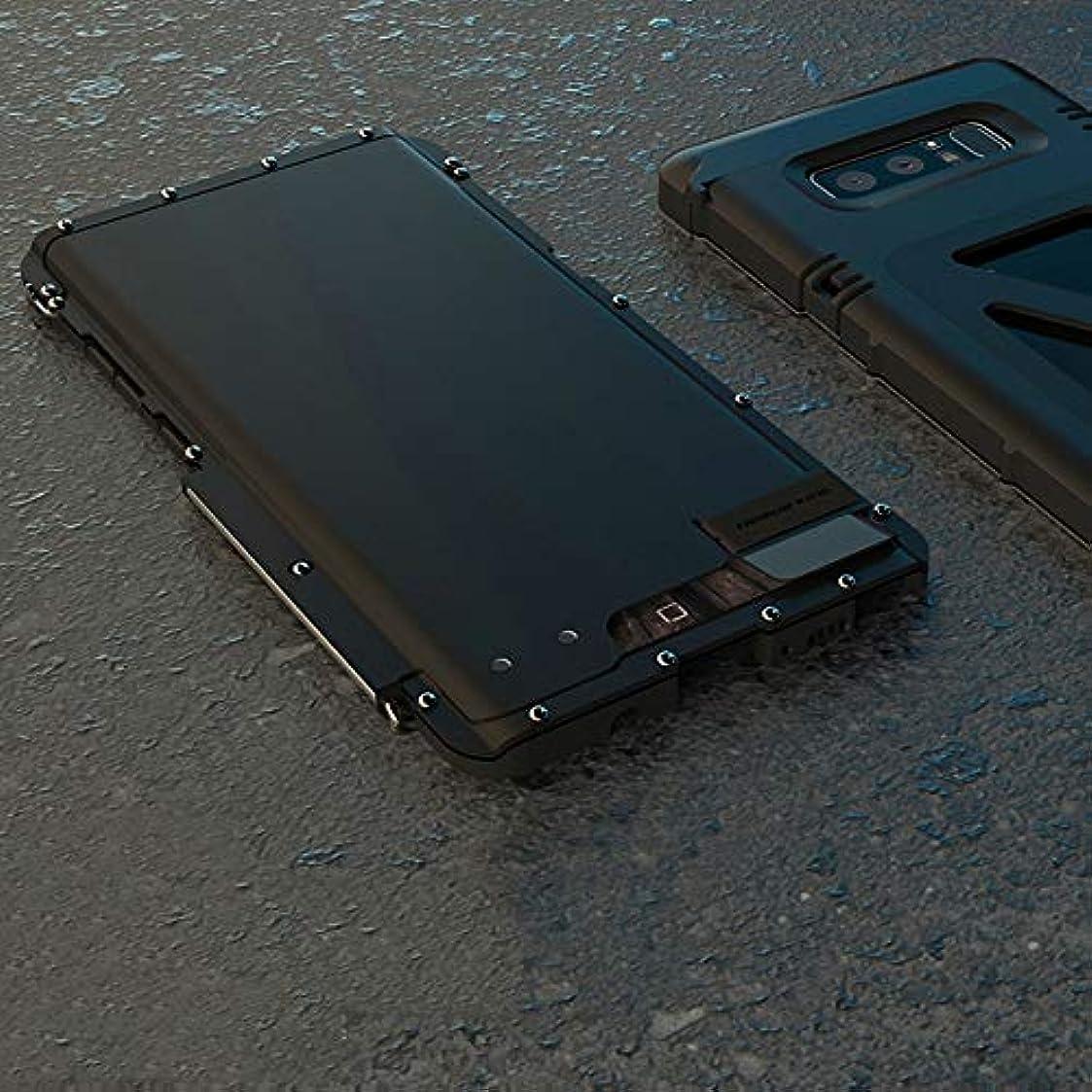 変化するエンドテーブルバルブTonglilili サムスン注8、注FE、注2、注3、注4、注5用ブラケット携帯電話シェル飛散防止クリエイティブスリーインワンメタルフリップアイアンマン保護携帯電話シェル電話ケース (Color : 黒, Edition : Note4)