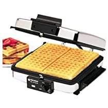【並行輸入】Black & Decker G48TD 3-in-1 Waffle Maker & Indoor Grill/Griddle, Silver ワッフルメーカー/グリル