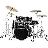 YAMAHA ドラムセット SBP0F5ZBT18-RBレーベンブラック ステージカスタム 20BD/スタンダードセット+ジルジャンZBT 3シンバルセット