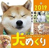 犬めくり 2019年 カレンダー リフィル 日めくり CK-D19-02 画像