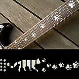 猫足/ホワイトパール ギターに貼る インレイステッカー