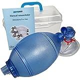 JTKENS PVC(ポリ塩化ビニル)成人用/子供用/幼児用トレーニングバッグバルブマスク(プラスチック製キャリーケース入り)