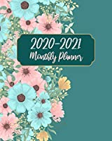 2020-2021 Monthly Planner: Green Floral, 24 Months Planner Calendar Track And To Do List Schedule Agenda Organizer January 2020 to December 2021 With Holidays and inspirational Quotes