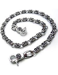 [スワンユニオン] swanunion クロス 十字架デザイン 重厚ウォレットチェーン 銀彫刻風[w44]