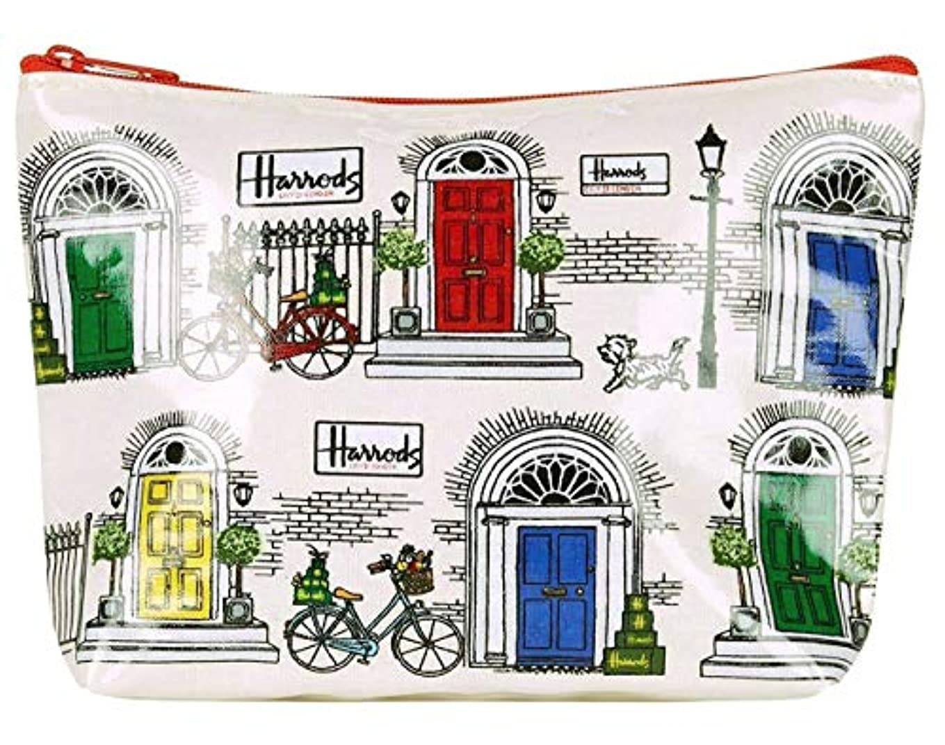ブリリアントスツール教(ハロッズ) Harrods 正規品 ポーチ,化粧ポーチ,トラベルポーチ,ジップパース,ナプキン入れ Harrods Travel Pouch? (Knightsbridge Doors)