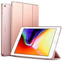 ESR 新しい iPad 9.7 2018/2017 ケース 超軽量 極薄 レザー 三つ折スタンド オートスリープ機能 スマートカバー 全10色 2017年と2018年発売の 新しい9.7インチ iPad 対応(モデル番号A1822、A1823、A1893、A1954)(ローズゴールド)