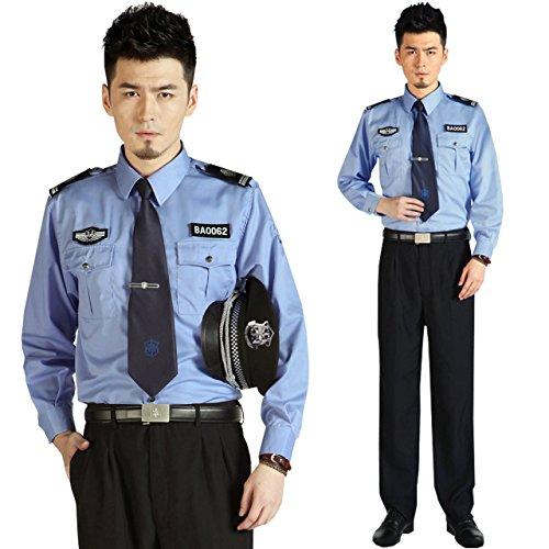(リッチェ) Ricce 警察官 コスプレ 4点セット メンズ 青 L ラージ 長袖