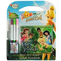 Disney Fairies Tinkerbell 5 Piece Personalizedスタディキット/ひな形セット、スクールSupplies with 1 Dry Erase Noteパッド、3 wipe-offマーカー、1 Wipe Off布