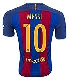 子供用 バルセロナホーム・半袖 サッカーレプリカユニフォーム(シャツ,パンツセット)・Messi 10番 メッシ, Neymar 11番 ネイマール , Suarez 9番 スアレス (身長120cm 前後, Messi 10番 メッシ)
