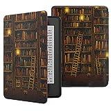 ATiC Amazon Kindle Paperwhite専用スーパー軽量薄型ケース (オートスリープ機能付き 2012/ 2013/ 2015/2016/マンガモデル適応) Library