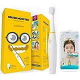 BRUSH MONSTER ブラッシュモンスターキッズ 子供用スマートトラッキング電動歯ブラシ AR(拡張現実)搭載 歯育アプリ連動 BMT100 (本体ホワイト)