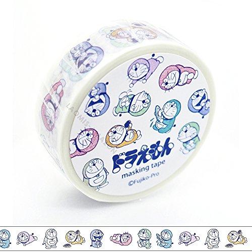 グリーンフラッシュJapanese和紙マスキングペーパーテープ/ Happy Doraemon [ dg-017]