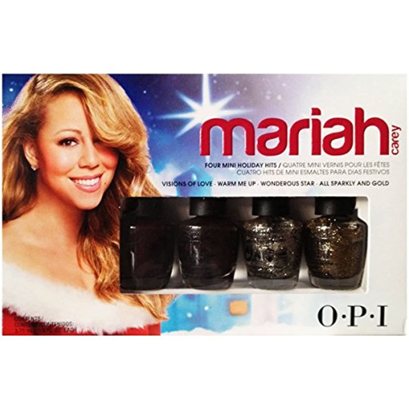 バーガー資料抑圧OPI Nail Polish Lacquer - Mariah Carey Holiday Collection 2013 Mini Lacquer 3.75ml set of four.
