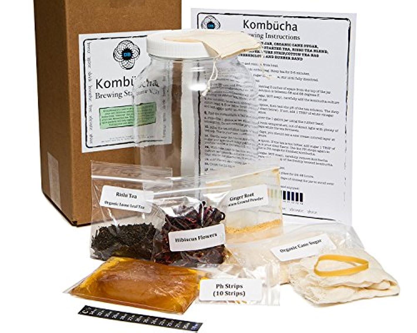多分大量禁止する日本でも大ヒットのKombucha 紅茶キノコダイエット 日本非売品を並行輸入(海外直送品) (紅茶キノコをお家で培養フルセット(ガラスの容器つき?説明書英語)) [並行輸入品]