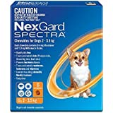 Nexgard, Flea, Tick & Worming Monthly Chew, Spectra, Dog, 2-3.5kg, 6pk
