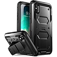 i-Blason アイブレゾン iPhone X用 アーマーボックス グラススクリーンプロテクター フルボディケース [Armorbox] [Built in Tempered Glass Screen Protector][Full body] [Heavy Duty Protection] [Kickstand] Shock Reduction Case for Apple iPhone X / iPhone 10 2017 Release Black ブラック[並行輸入]