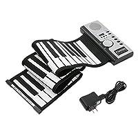 61鍵電子ピアノ・キーボードシリコン柔軟なロールアップデジタルピアノ128トーン子供のための玩具ラーニング初級教育玩具RONEライフ 変の犬