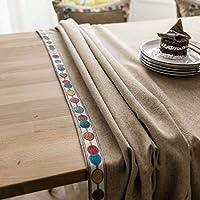 さまざまなカウンタートップ用のポリエステル製テーブルクロス、北欧スタイルの3次元刺繍テーブルクロス、お手入れが簡単な長方形のクロス。, C, 140x200cm