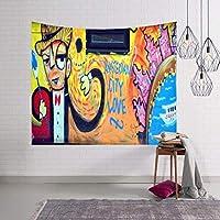 3Dプリントタペストリー100%ポリエステルグラフィティタペストリー自由奔放に生きるヒッピー家の装飾家族の背景ウォールカバー/タペストリー/壁毛布/ビーチタオル (Color : G, Size : 60 x 40 inches)