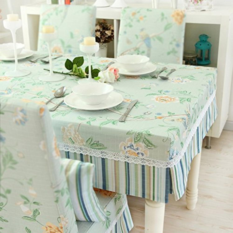 テーブルクロス シンプルでモダンな牧歌的なテーブルクロスのソリッドカラーテーブルセット (Size : 150x90+20cmVertical edge)