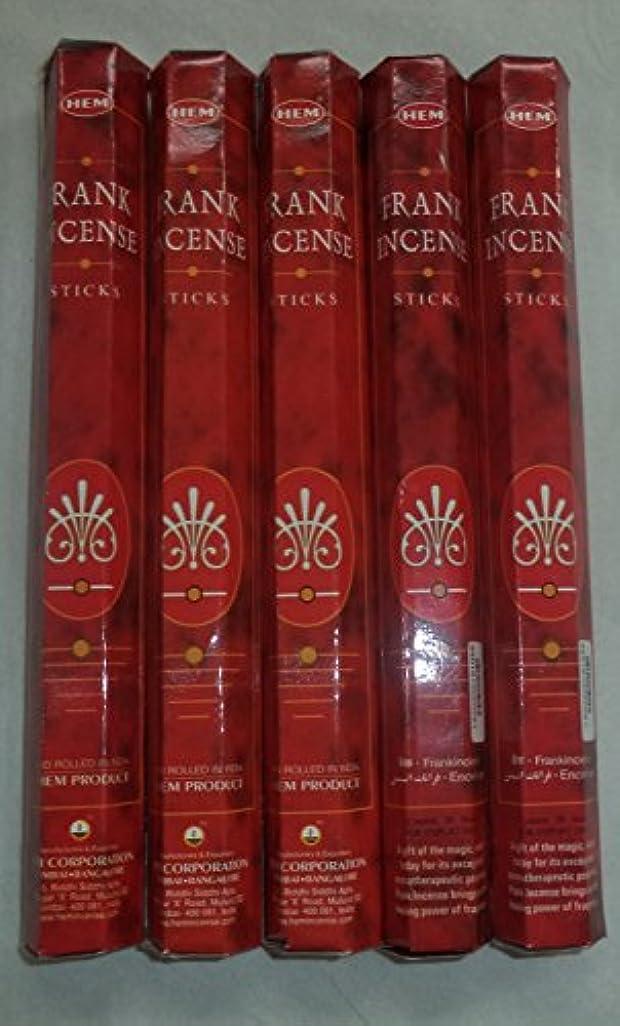 宝肘感心するHemフランクインセンス100 Incense Sticks (5 x 20スティックパック)