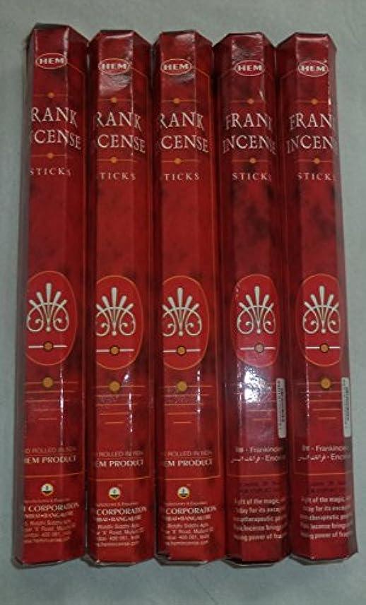 土曜日方言はぁHemフランクインセンス100 Incense Sticks (5 x 20スティックパック)