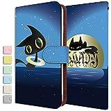 [KEIO ブランド 正規品] Xperia Z1 SOL23 ケース 手帳型 ネコ SOL23 手帳型ケース 動物 Xperia カバー Z1 カバー SOL23 猫 ねこ エクスペリア ケース エクスペリアZ1 ケース SO01F ケース SOL ケース 23 ネコ 肉球 リボン ittnクロネコ夜空黒猫t0344