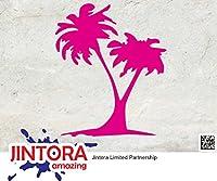 JINTORA ステッカー/カーステッカー - Coconut - ココナッツ - 87x104mm - JDM/Die cut - 車/ウィンドウ/ラップトップ/ウィンドウ- ピンク