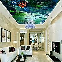 Lixiaoer カスタム写真の壁紙3D水中世界の海の漁業のHd天井の壁紙壁画のロビーの壁紙カスタムリビングルームの壁画-120X100Cm