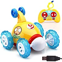 inverlee RC Rolling Cartoon Stunt Racing Car 360度Spinning with LEDフラッシュ&音楽Great Gift for Kids マルチカラー IN