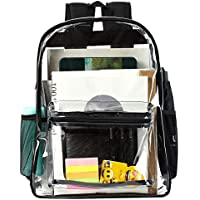 Vorspack Clear Backpack Heavy Duty Transparent School Backpack with Enhanced Strap Stitches and Sturdy Thick Material