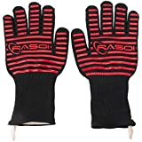 Extreme Heat Resistant BBQ Gloves for Microwave Oven Grill Kitchen Baking Food Grade Silicone with EN407 Certified Heat Proof Aramid Fiber Proven to Stand Temperature up to 500 °C