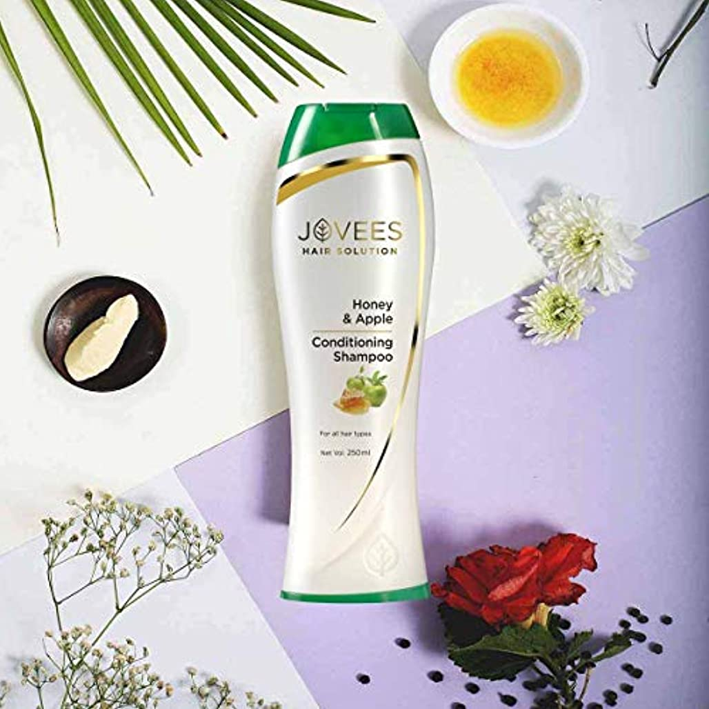 記念日孤独増加するJovees Honey & Apple Conditioning Shampoo 250ml makes Hair softer, smoother & shinier ハニー&アップルコンディショニングシャンプーは、...