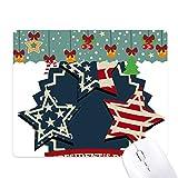 アメリカ合衆国の大統領の旗祭祝賀 ゲーム用スライドゴムのマウスパッドクリスマス