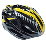 21ベントヘルメット 大人用子ども用 キッズ Aliciga 自転車ヘルメット 軽量 サイクリングヘルメット 調整可能 (イエロー)
