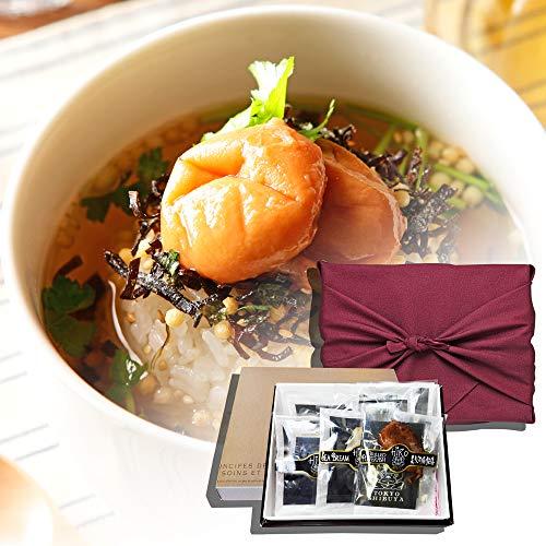 お茶漬け ギフト 高級 セット 6食入り (金目鯛・炭火鶏・うなぎ・磯海苔・しじみ・梅・他)