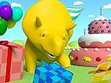 カラフルなサッカーボール/ローラーコースター / ボーリングをしながら色を数字を覚えよう/色を学ぼう - ダイノの誕生日パーティ!
