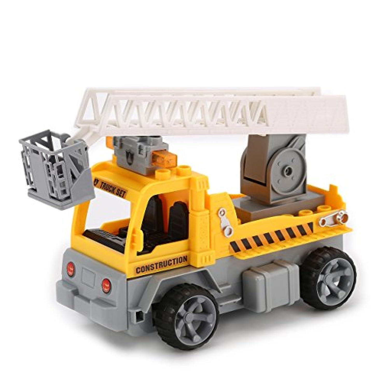 1/18ビルディングブロックエンジニアラダーRCトラック車のレンガ教育贈り物おもちゃ
