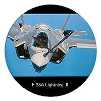 F-35A Lightning Ⅱ の壁掛け時計:ピクチャークロック(世界の戦闘機シリーズ) (F) [並行輸入品]