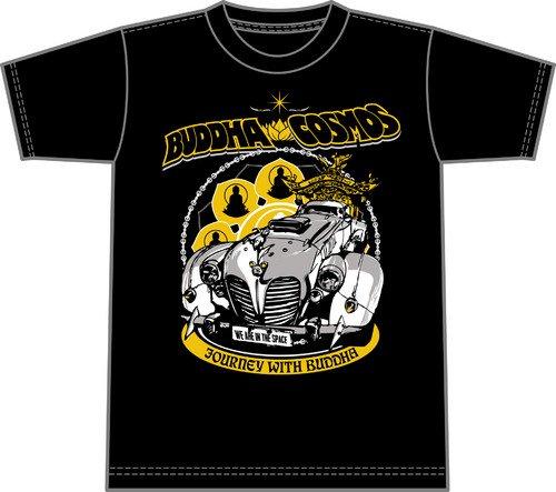 ニンジャスレイヤー デッドムーン ブッダコスモス×ネズミハヤイDIII Tシャツ アナザーカラー サイズ:XS