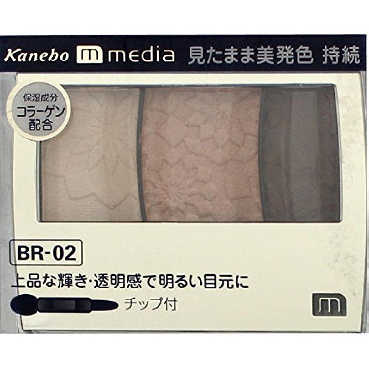 かなりのペダルブラケット【カネボウ】 メディア グラデカラーアイシャドウ BR-02