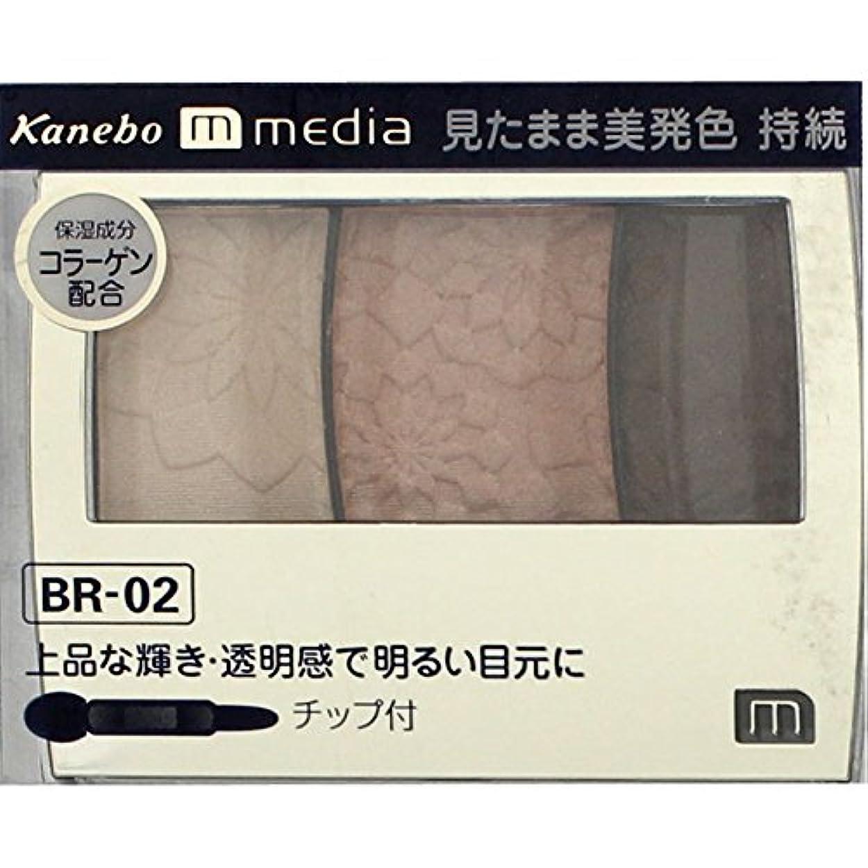 遮るスキャンダラス競争【カネボウ】 メディア グラデカラーアイシャドウ BR-02