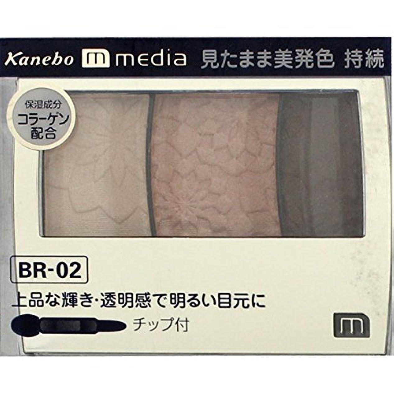 罰酸度一元化する【カネボウ】 メディア グラデカラーアイシャドウ BR-02