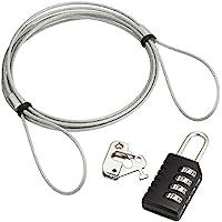 サンワサプライ パソコンセキュリティワイヤーロック(ダイヤル錠) SL-58