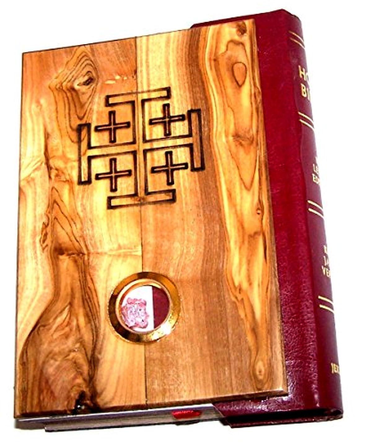破壊土自発的Olive Wood Millennium Bible With ' Incense ' ~記念すべきKing James Version of the Old and the New Testament