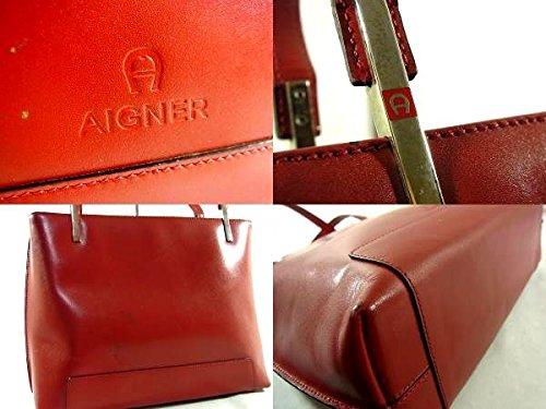 (アイグナー) AIGNER レザー 二層式 セミショルダーバッグ レッド 311-160-RY 中古